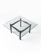 Howard Meister's painted metal coffee table, full view from top