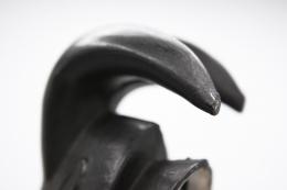 Roger Capron's ceramic mask detail of horns