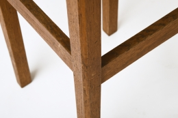 Unknown Artist's set of 4 stools, detailed view of base