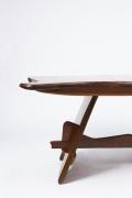 "Michel Chauvet's ""Poisson"" sculptural desk detailed view of the left side"