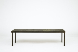 Pierre Lèbe's coffee table, full straight view