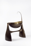Philippe Hiquily's sculptural cradle, diagonal view without fur lining