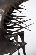 """Michel Anasse's """"Relation Humaine"""" Sculpture detail of spikes"""