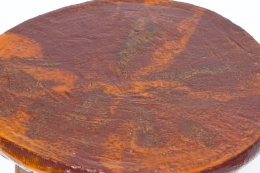 Juliette Derel's ceramic coffee table detailed view of top of table