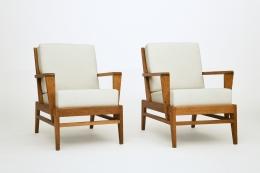 René Gabriel's pair of armchairs, front diagonal views