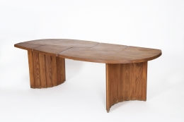 """Pierre Chapo's """"TGV"""" dining table, full view from above"""