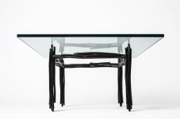 Howard Meister's painted metal coffee table, full view from under