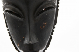 René Buthaud's mask detail of facial features