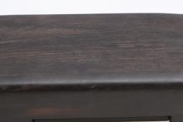 Alexandre Noll's black ebony box, detailed view of signature on bottom