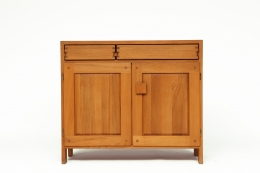 """Pierre Chapo's """"R07"""" sideboard, front straight view from eye-level"""