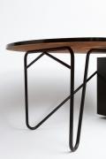 Edgard Pillet's black desk, detailed view of legs
