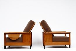 Jean Burkhalter's pair of armchairs side views