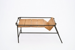 Jacques Adnet's side table top view