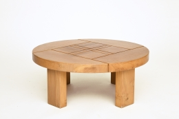 Maison Regain's coffee table, full straight view