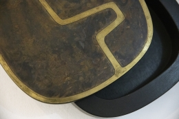 Jany Blazy's box, detailed view of top of lid