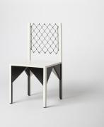 """Paul Ludick's """"Apartheid"""" chair, full diagonal view"""