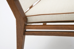 Jacques Adnet's pair of armchairs detail