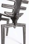 Terence Main's Frond chair 7 detailed view of back of chair