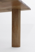 Charlotte Perriand's dining table, detailed view of leg from underneath