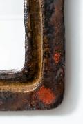 Juliette Derel's ceramic mirror detailed image of ceramic frame