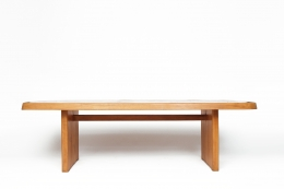"""Pierre Chapo's """"T20A"""" dining table straight view"""