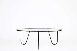 "Mathieu Mategot's ""Bellevue"" table, full view from eye-level"