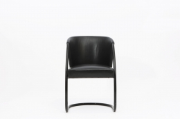 Jacques Adnet chair front view