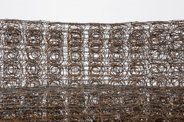 """Forrest Myers' """"Untitled"""" wire couch, detailed view of wire"""