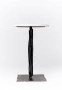 "Howard Meister's ""Steel Dream"" side table eye-level view"