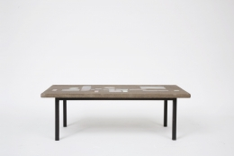 Jacques Avoinet's coffee table straight view