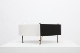 "Pierre Guariche's ""G60"" table lamp diagonal straight view"