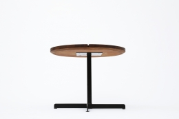 """Charlotte Perriand's """"Soleil"""" adjustable table, full view from below"""