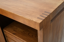 """Pierre Chapo's """"R16"""" sideboard detail of joinery"""