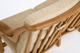 Guillerme et Chambron's sofa, detailed view of back and upholstery