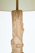 Pierre Blanc's ceramic floor lamp, detailed of ceramic on top
