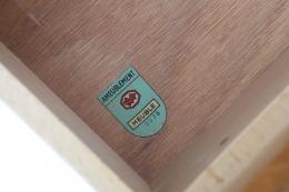 Bernard Marange's sideboard, detailed view of certification sticker