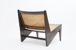 Pierre Jeanneret's pair of kangourou chairs back view of single chair