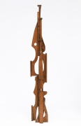 Ricardo Santamaria large wooden sculpture, full front view