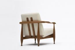 Guillerme et Chambron's armchair diagonal back view