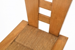 Henry Jacques Le Même's Set of 4 chairs, detailed view of seat and back