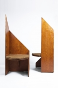 Hervé Baley's large chairs front and side view