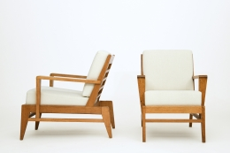 René Gabriel's pair of armchairs, side and front views