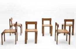 George Candilis' set of 6 chairs view one