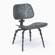 """Terence Main's """"My Eames is True"""" sculptural side chair side diagonal view"""