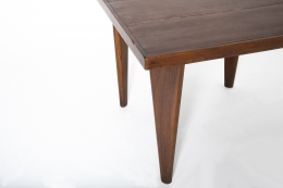 Pierre Jeanneret's square table, detailed view of corner table top