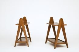 Unknown artist's pair of racks, side views