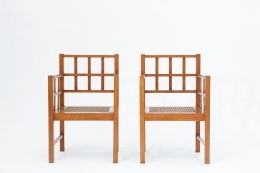 Francis Jourdain's pair of armchairs front view