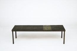 Pierre Lèbe's coffee table, full straight view from above