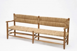 Charlotte Perriand's bench, diagonal view