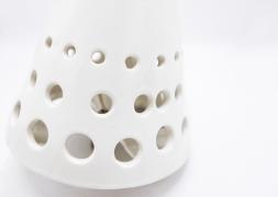 Roger Capron's ceramic ceiling lamp detail of ceramic part